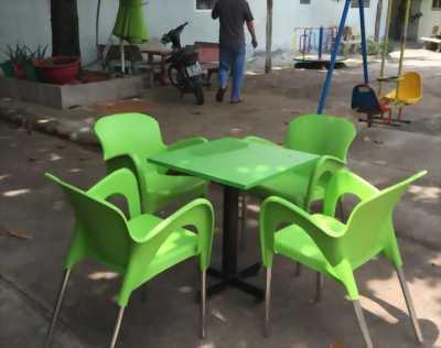 Bàn ghế nhựa cafe giá rẻ