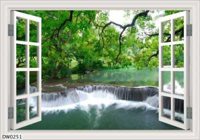 tranh gạch 3d cửa sổ - gạch tranh 3d
