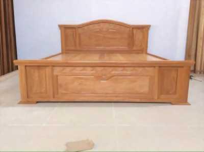 Giường gỗ sồi nhập