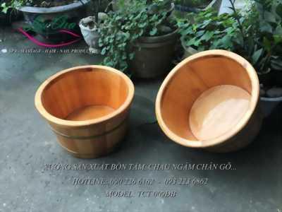 chuyên sản xuất bồn tắm gỗ pơ mu tại vĩnh phúc
