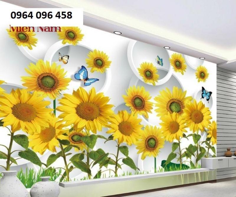 tranh gạch 3d vườn hoa