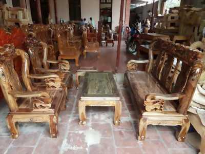 Bộ bàn ghế minh quốc đào trạm đào - gỗ mun nam phi - tay 10 và tay 12