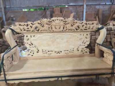 Bộ bàn ghế giả cổ trạm rồng đỉnh - gỗ gõ đỏ,cà te - tay 10 và tay 12