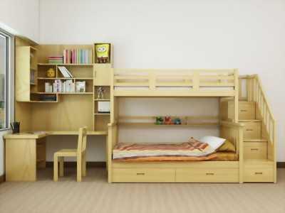 Giường tầng gỗ tự nhiên hàng xuất khẩu