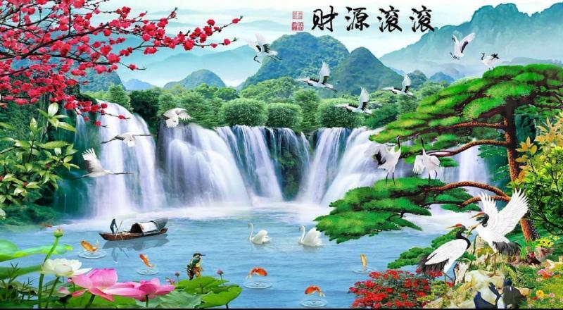 Tranh phong cảnh - gạch tranh 3d ốp tường