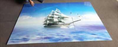 Tranh gạch men thuyền buồm 3D