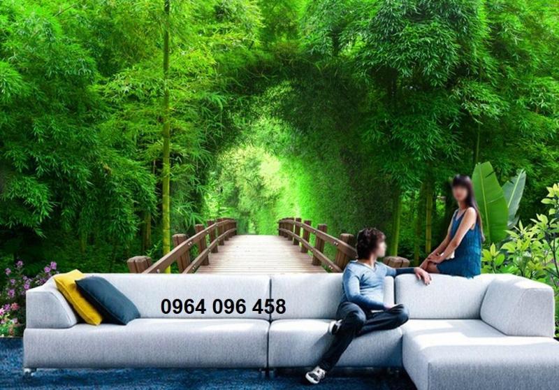 tranh gạch 3d rừng cây
