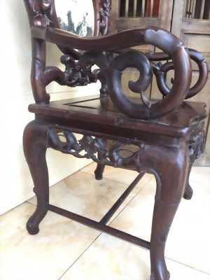 ghế truc dưa gỗ gụ bộ 7 món