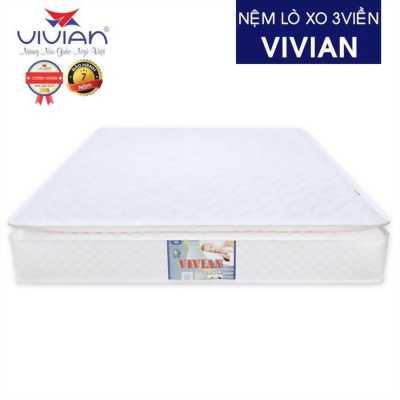 Nệm lò xo liên kết 3 viền Vivian chính hãng siêu cao cấp