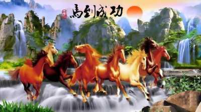 tranh ngựa 3d gạch tranh 3d