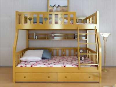 Giường tầng gỗ tự nhiên.