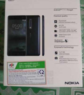 Nokia 5 mới, dán hai mặt điện thoại