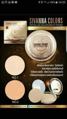 Phấn nén SIVANNA COLORS Natural And Delicate Beauty Powder