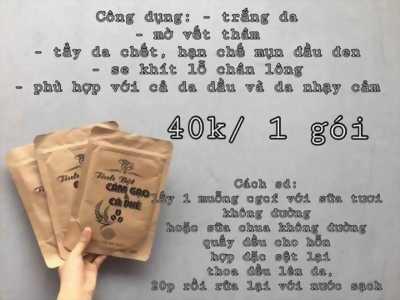 Cám Gạo Cà Phê. Giá Niêm Yết 40k, đảm bảo không chất bảo quản