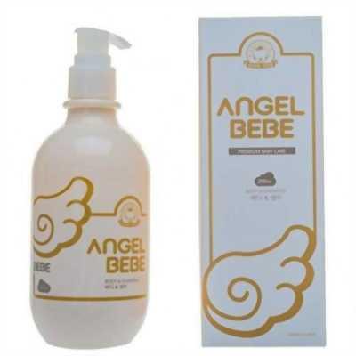 Combo cặp dầu gội đầu sữa tắm, sữa dưỡng thể Angel Bebe