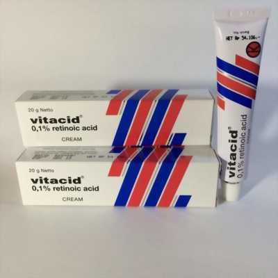 Kem Vitacid 0.1% Kem Tretinoin 0.1% ngăn ngừa lão hóa da