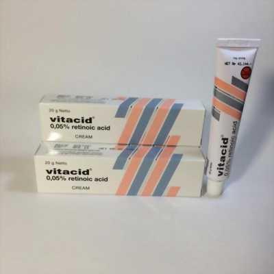 Kem VItacid 0.05% Kem Tretinoin 0.05% trị mụn ngăn ngừa lão hóa da