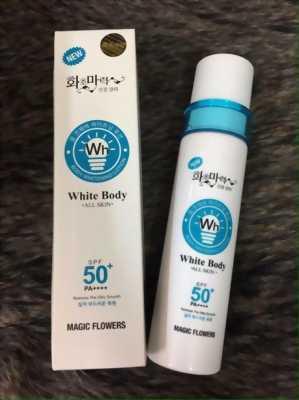 Kem kích trắng white body all skin SPF 50