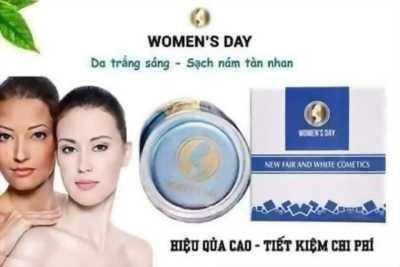 Kem dưỡng trắng da trị nám mụn women's day