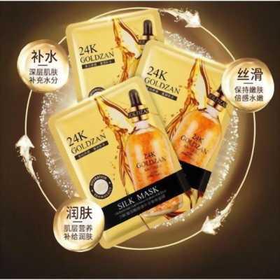 Hộp 10 miếng mặt nạ lụa 24k Goldzan chính hãng