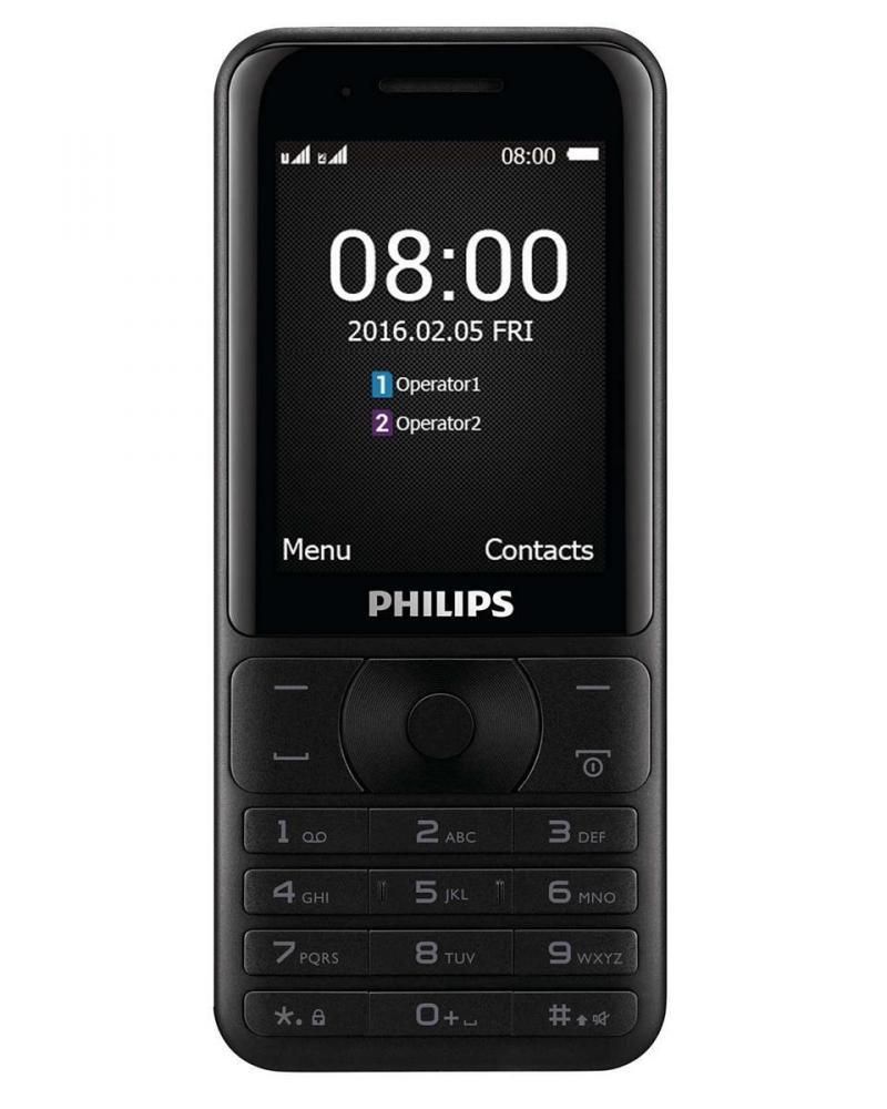 Philips Xenium E181 Black+Gold (2 sim,pin 3100mAh)