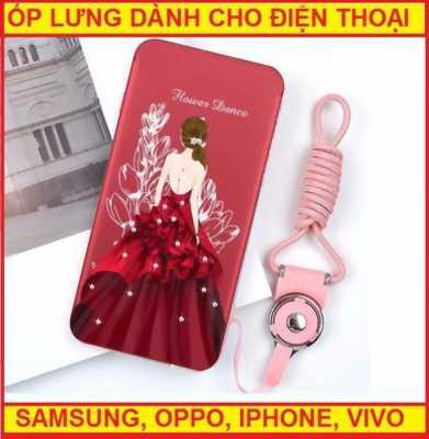 Ốp lưng hình cô gái mặc váy đỏ Flower Dance OPPO F5