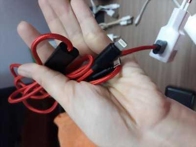 Dây cáp 2 in 1 Lightning và Micro USB
