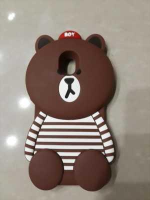 Ốp lưng J7 Pro hình gấu Brown