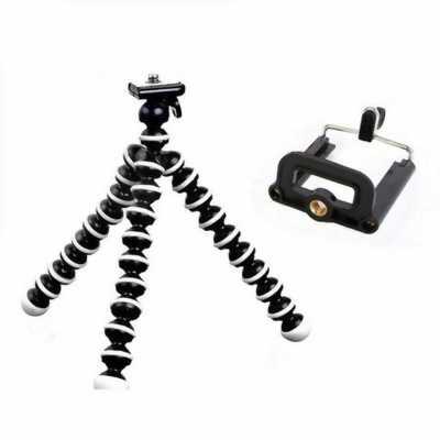Chân máy ảnh bạch tuộc tặng kèm giá kẹp điện thoại