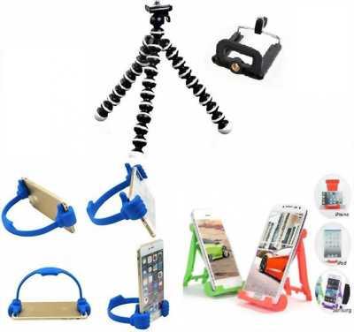 COMBO 3 món: chân máy ảnh, giá kẹp, giá đỡ điện thoại