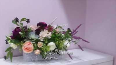 Hoa lụa để bàn ( hồ điệp)