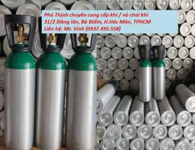 Bán bình khí/vỏ chai khí tại TP.HCM