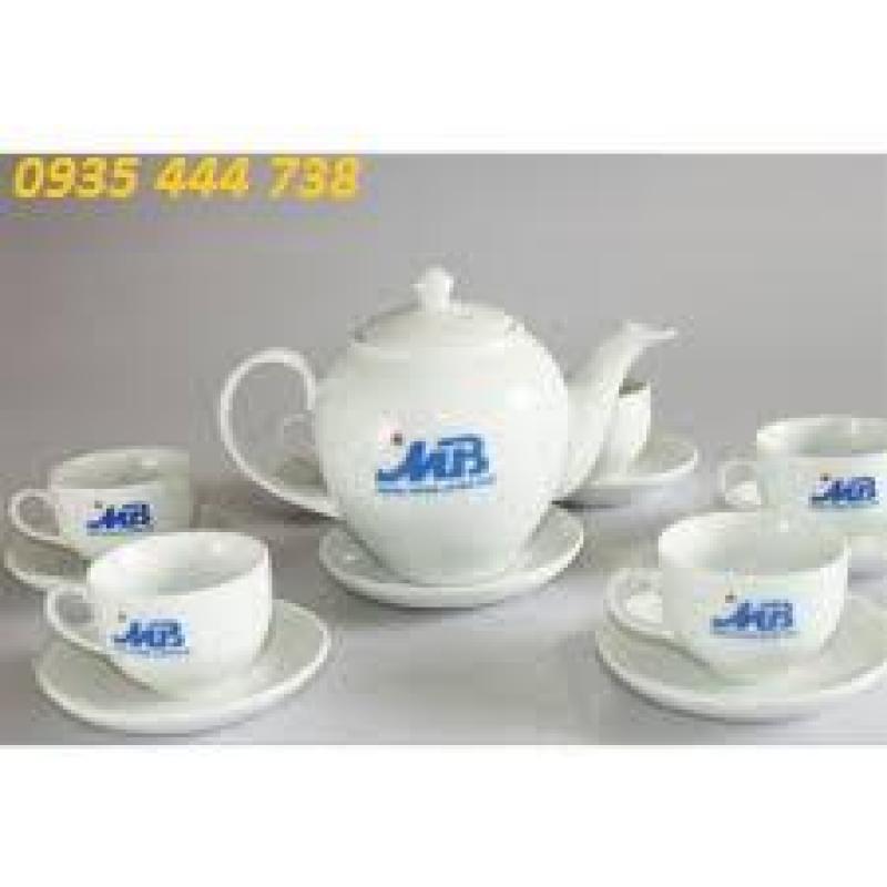 In ấn bộ tách trà,bộ ly cốc sứ quà tặng Quảng Nam