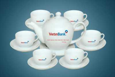 in logo doanh nghiệp lên tách trà tại Đà Nẵng