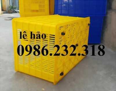 sọt nhựa bánh xe, sóng nhựa rỗng HS015, HS022, sóng nhựa rỗng, thùng nhựa