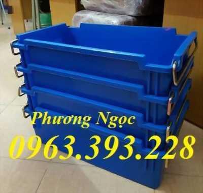 Thùng nhựa đặc A2 có quai xách, hộp nhựa có quai sắt, hộp nhựa công nghiệp