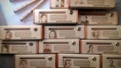 Bút gỗ quà tặng, khắc tên theo yêu cầu