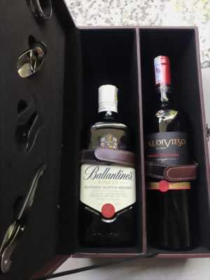 Set rượu Ballentine's Finest và vang đỏ chile Valdivieso single vineyard Cabernet Sauvignon
