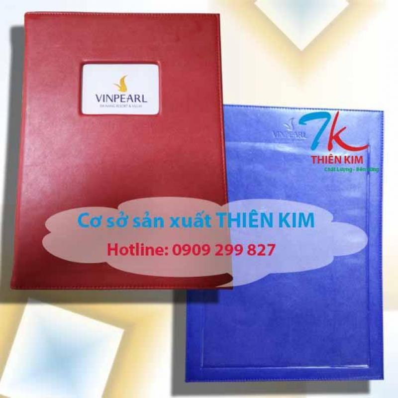 Nhà sản xuất bìa da dập logo lớn nhất tphcm, may bìa da theo thiết kế, nhận đặt bìa da số lượng lớn