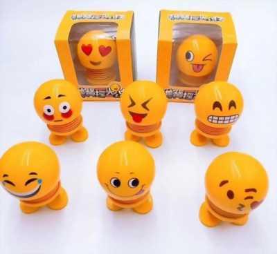 Emoji lò xo lắc đầu, thú nhún mặt cười cảm xúc dễ thương