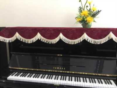 Khăn phủ đàn piano cơ, piano acoustic chất vải Indonesia