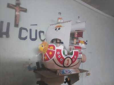 Bán mô hình tàu thousand sunny bằng giấy dành cho fan One Piece