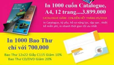 In ấn 1000 cuốn Catalogue, A4, 12 trang 3.899.000