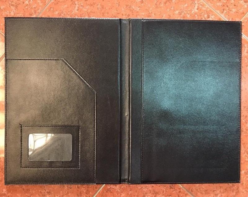Sản xuất bìa menu da