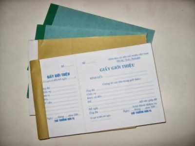 Cung cấp giấy giới thiệu giá rẻ tại tp.hcm