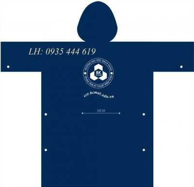 In logo thương hiệu lên áo mưa quà tặng khách hàng tại Đà Nẵng