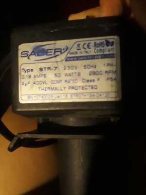 Động cơ điện 50W/220V của hãng SABER - Ý