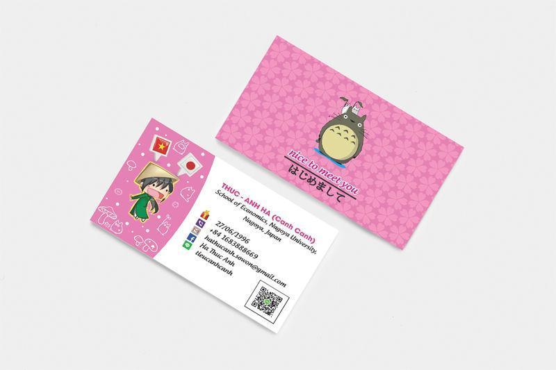 In card visit lấy ngay tại hà nội - in nhanh la giang