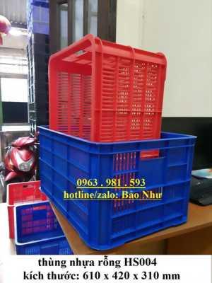 thùng nhựa rỗng HS004 giá rẻ