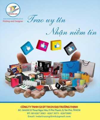 Nhận thiết kế và in ấn catalogue, brochure, túi giấy, hộp giấy, bao bì...